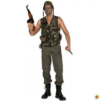 Camouflage Weste Einhgr. Kostüm Army Mann Militär Fasching - Krieger Kostüme Weste