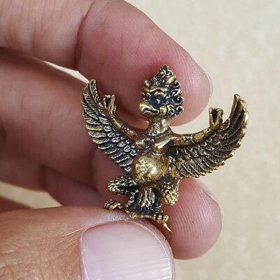 PHAYA KRUT Garuda Thai Amulet Brass Pendant Magic Luck Protection Wealth Health