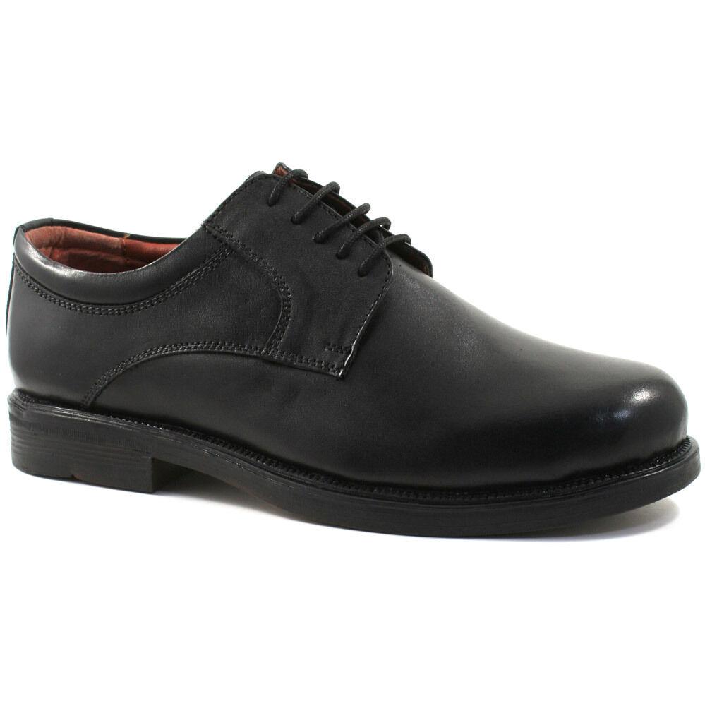 Scimitar M902A Men/'s Black Leather Toe Cap Oxford Shoes