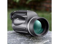 New BNISE 13x50 Monocular with Reticle - High Power Telescope Big Eyepiece for Bird