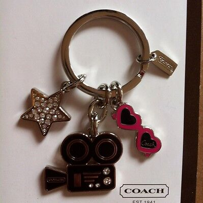 NEW AUTHENTIC COACH HOLLYWOOD DIVA STAR SUNGLASSES MOVIE  KEYCHAIN FOB (Hollywood Star Sunglasses)