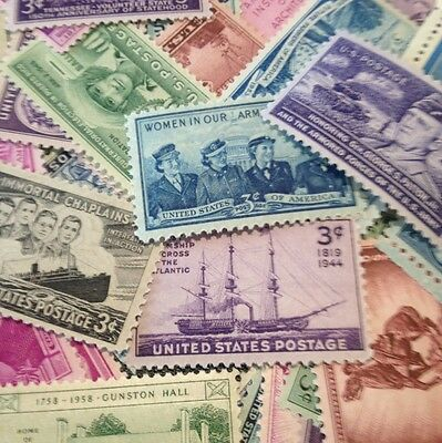 50 MNH OLD and  All Different 3 cent stamps