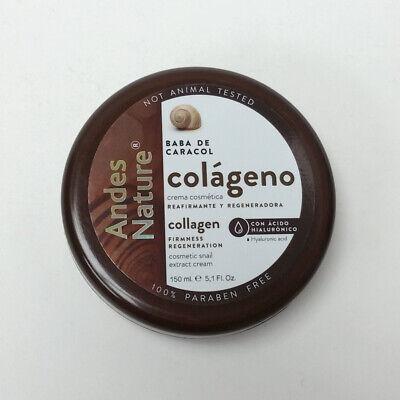 Andes Nature Collagen Snail Cream Crema Baba De Caracol Colageno 5.1 oz