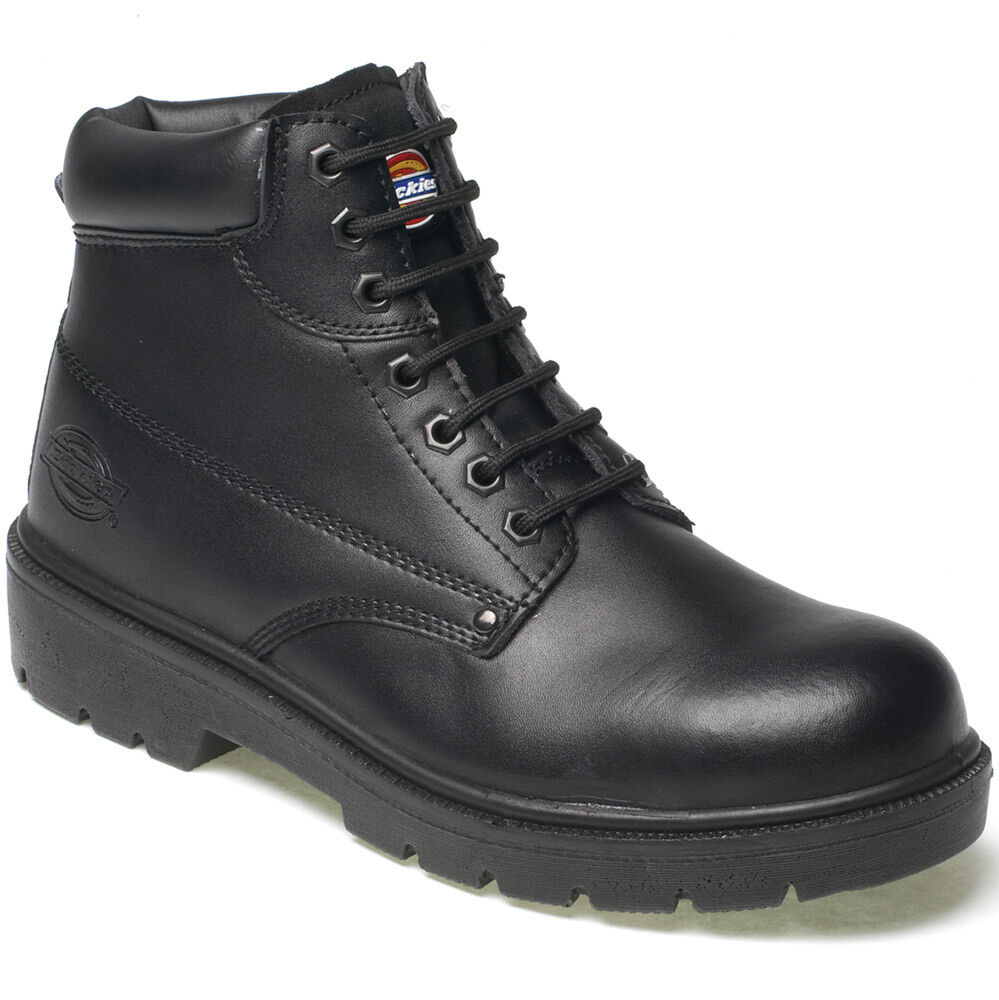Size 6.5 Chukka Safety Work Boot Leather Steel Toe Cap Click Black Mens//Ladies