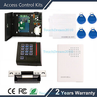 Single Door Access Control Systems With Strike Lock Rfid Reader 110v Power Box