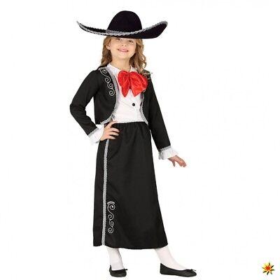 Kinderkostüm Mariachi Mädchen Jacke Rock schwarz Mexikanerin Fasching (Mariachi Mädchen Kostüme)