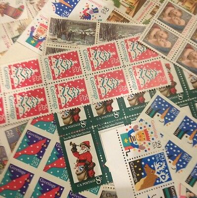 $10 face CHRISTMAS Stamps 4 Cent to FOREVER Dress Up Your Holiday Mail