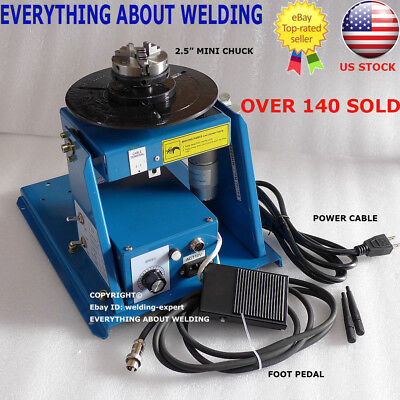 Us Ship Rotary Welding Positioner Turntable Table Mini 2.5 3 Jaw Lathe Chuck