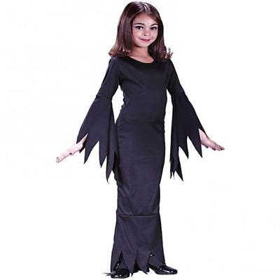 Kinder Morticia Addams Familie Mädchen Halloween Kostüm - Kind Morticia Kostüm