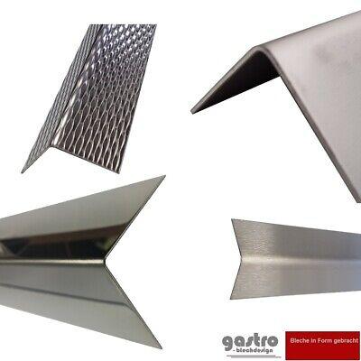 Material: AlMg3 Oberfl/ächenoptik: Duett geriffelt 2000mm x 40x40mm in 1,5//2mm Materialst/ärke 2 Meter langer Aluminium Kantenschutz Winkel Schenkell/änge Innenma/ß 4x4 cm