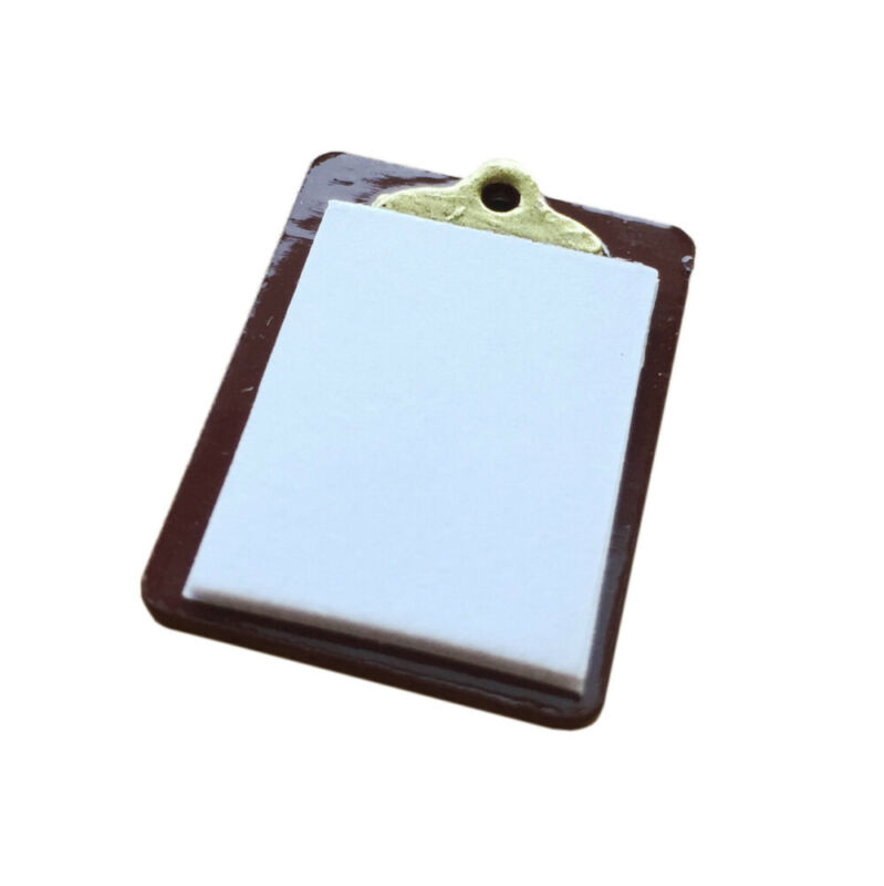 Dollhouse Accessories Notepad Clamp Plate 1:12 Miniature Decor Ornament fashion