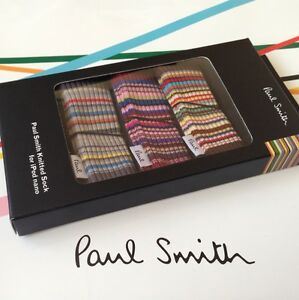 Genuine PAUL SMITH Knitted Ipod Nano Striped Socks x 3 - Brand New