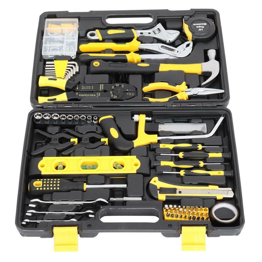218Pcs Household Tool kit, Auto Repair Tool Set, General Household Hand Tool Set