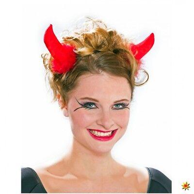 Teufelshörner mit Haarspange rot Fasching Halloween Kostüm Teufel Märchen