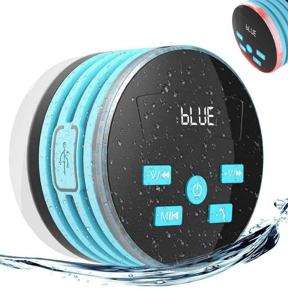 LED Duschradio Badradio Bluetooth Lautsprecher, Lautsprecher Wasserdicht 5W FM