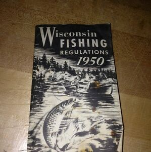 Vintage wisconsin fishing regulations 1950 phamplet book for How much is a wisconsin fishing license
