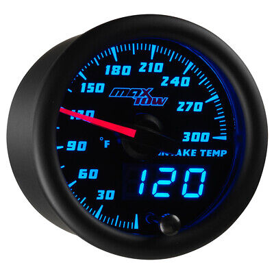52mm Black & Blue MaxTow Double Vision Intake Temperature Gauge