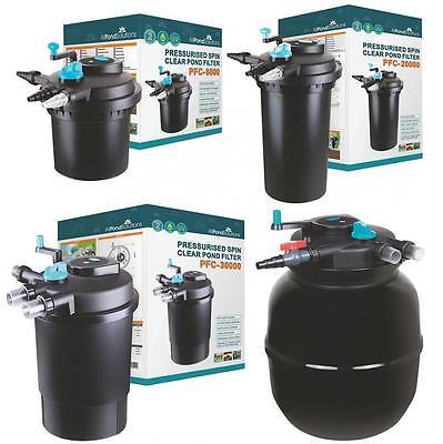 Pressurised Koi Pond Filter UV Steriliser Kits - All in One - Ponds up to 50000L