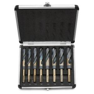 8pc HSS Cobalt Silver & Deming Drill Bits Set, Large Size 9/16