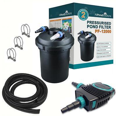 APS PF Pressurised Pond Filter / Pump / UV Steriliser Complete kit + Fittings