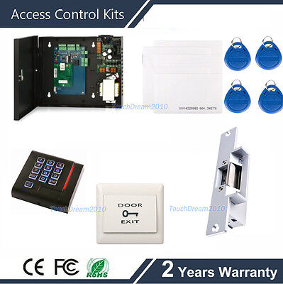 Single Door Access Control Entry System Kit With With Electric Strike Door Lock