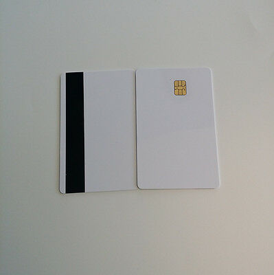 30pcs Magnetic Stripe Card With Chip Sle4442 12 Hico Inkjet Printable Card