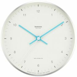Lemnos MIZUIRO Radio clock LC07-06 WH White Interior Round Face Made In Japan