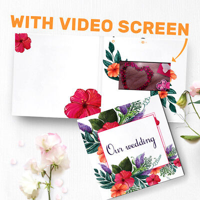 Wedding Album With Video Screen Video Greeting Card Our W...