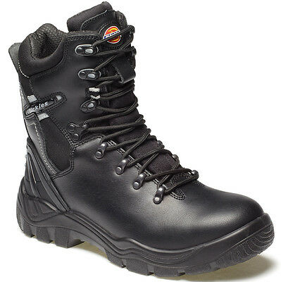 MENS DICKIES QUEBEC ZIP LINED SAFETY BOOTS SIZE UK 6 EU 40 FD23375 BLACK BOOTS