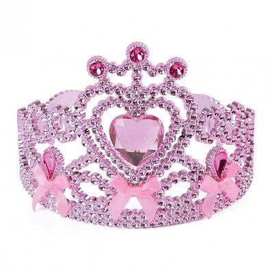 Kinder Mädchen Krone Tiara Prinzessin Königin Märchen für Kostüm Zubehör Rosa