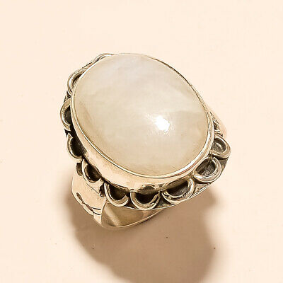 Natural Brazilian Moonstone Ring 925 Sterling Silver Thanks Giving Jewelry Gifts