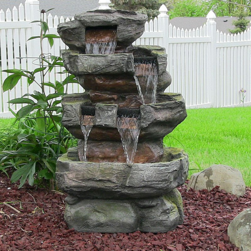 6 surprising diy gardens anyone can plant ebay for Garden waterfall fountain
