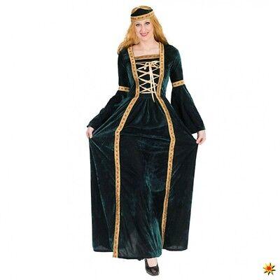 Hofdame Margaret Kleid lang Gr. 44- 50 Samtkleid grün Renaissance Kostüm - Hofdame Renaissance Kostüm