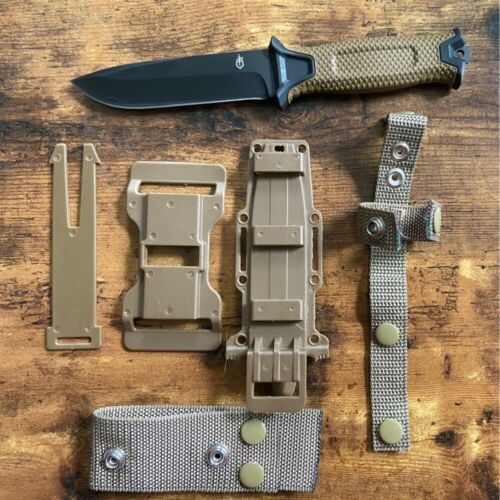 Gerber Strongarm Fixed Blade Knife Coyote Brown With Multi Carrying Sheath