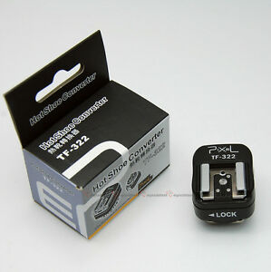 Pixel-TF-322-Nikon-i-TTL-Flash-Hot-Shoe-to-PC-Sync-Socket-Convert-Adapter