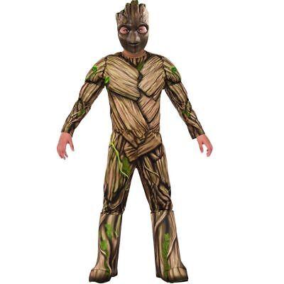 Deluxe Guardians Of The Galaxy Vol. 2 Groot Jungen Kostüm Kind M (Groot Halloween Kostüm)