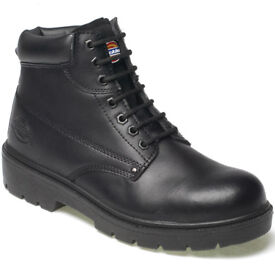 A pair of mens Dickies work boots in a UK size 13