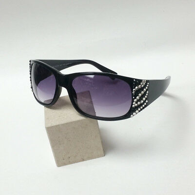 GL838 Jimmy Crystal Zebra Sunglasses w/ Jet Black & Crystal Swarovski Crystals