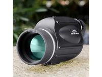 BNISE 13x50 Monocular with Reticle - High Power Telescope Big Eyepiece for Bird Watching