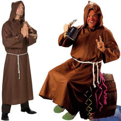 Mönch Kostüm (Mönch Mönchkutte Kutte Karneval Fasching Kostüm 48-58)