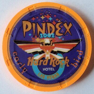 Hard Rock Hotel Casino Las Vegas PINDEX 2002 NCV Early Bird Casino Chip V Rare