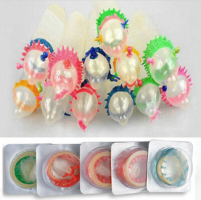 10 Pcs Adult Sensitive Orgasm Latex Condoms Dotted Ribbed Stimulate Vaginal (Latex Dots)