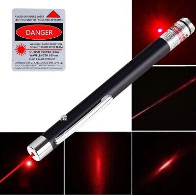 600Miles AAA Red Laser Pointer Pen Bright Visible Beam Dog Cat Toy 650nm Lazer