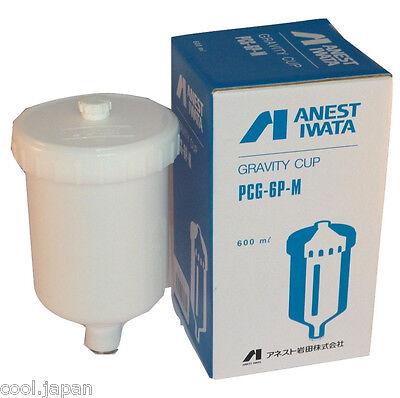 ANEST IWATA PCG-6P-M 600 ml Plastic Gravity Cup for W-400 LPH-400 Spray Guns NEW