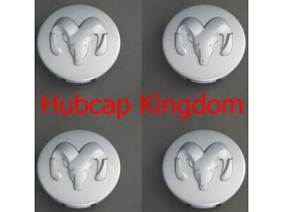 NEW 2005-2010 DODGE  CHALLENGER CHARGER MAGNUM STRATUS Center Cap SILVER SET