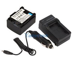 New Battery+Charger for Canon BP-808 BP-819 BP-810 BP-827 FS100 FS200 FS10
