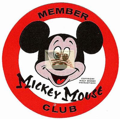 MICKEY MOUSE CLUB STICKER DISNEY ORIGINAL red white black (Original Mickey Mouse Club)
