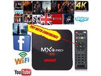 2017 MXQ PRO 4K Quad Core Android 6.0 TV Box Media Player Free Sports Movie