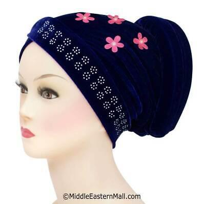 Volumizer Anti-Slip Velvet Turban #4 Royal Blue Hijab Under scarf Volumizer