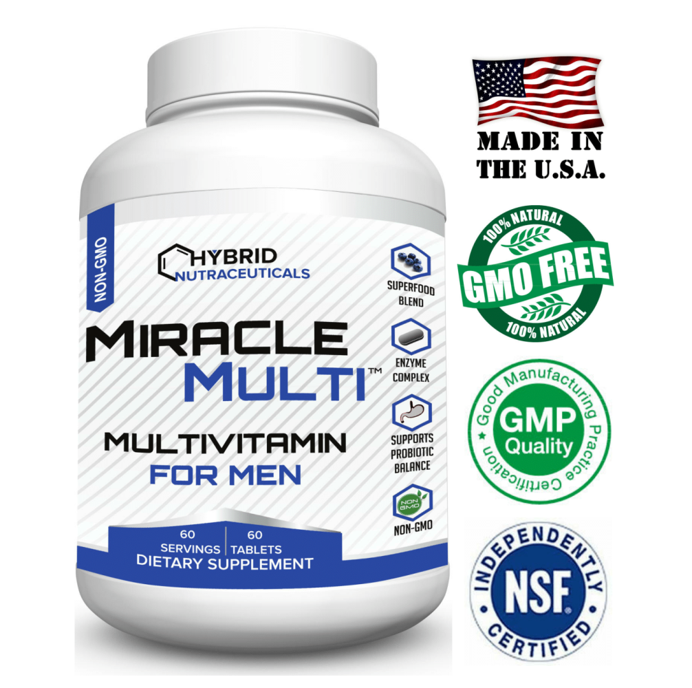 Best Multivitamin For Men >> Details About Multivitamin Mineral For Men Best High Potency Mens Vitamin Non Gmo Supplement
